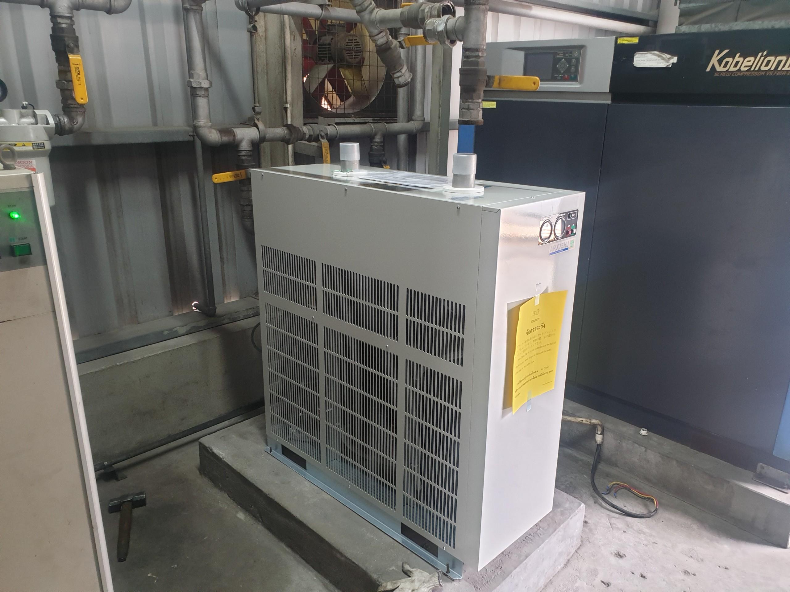 Tìm hiểu về thao tác lắp đặt máy sấy khí nén?